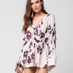 Free People Tuscan Dreams Tunic Floral Printed S